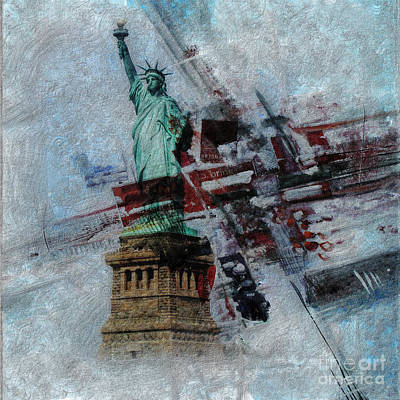American Eagle Painting - Statue Of Liberty by Gull G