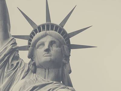 Free Painting - Statue Of Liberty In Gray by Celestial Images