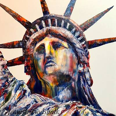 Painting - Statue Of Liberty by Jennifer Morrison Godshalk