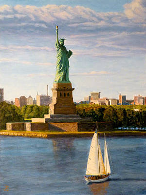 Painting - Statue Of Liberty by Joe Bergholm