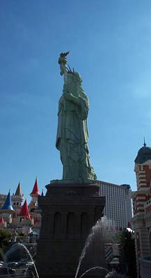 Statue Of Liberty Las Vegas Art Print by Alan Espasandin