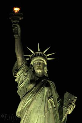 Photograph - Statue Of Liberty by Lily K
