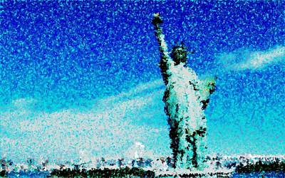 Statue Of Liberty Mixed Media - Statue Of Liberty by Matthew Jope