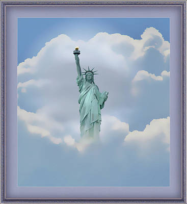 Mixed Media - Statue Of Liberty Montage by Clive Littin