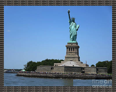 Statue Of Liberty Mixed Media - Statue Of Liberty New York America July 2015 Photo By Navinjoshi At Fineartamerica.com  Island Landm by Navin Joshi