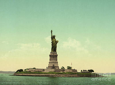 Statue Of Liberty, New York Harbor Art Print by Unknown