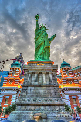 Photograph - Statue Of Liberty New York-new York Hotel 2 by David Zanzinger