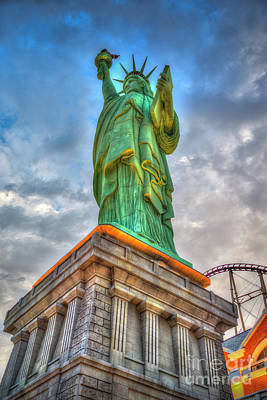 Photograph - Statue Of Liberty New York-new York Hotel 3 by David Zanzinger