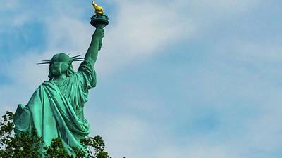 Abstract Airplane Art - Statue of Liberty - Not so typical angle by Srinivasan Venkatarajan