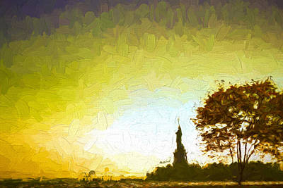 Digital Art - Statue Of Liberty - Nyc by Matthew Ashton