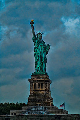Photograph - Statue Of Liberty On A Stormy Day by Roberta Kayne