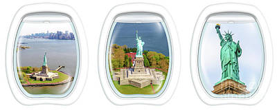 Photograph - Statue Of Liberty Portholes by Benny Marty