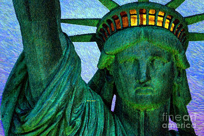 Digital Art - Statue Of Liberty by Rafael Salazar