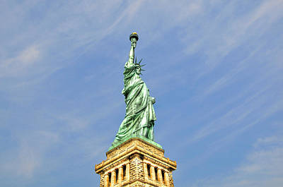 Statue Of Liberty Print by Randy Aveille