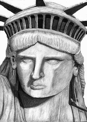 Digital Art - Statue Of Liberty Selfie by Terry Cork
