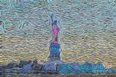Photograph - Statue Of Liberty Swirl by Wernher Krutein