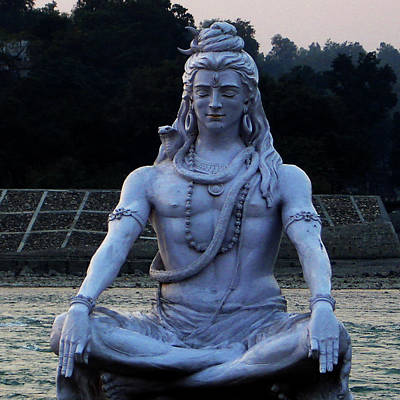 Photograph - Statue Of Lord Shiva On The Banks Of Ganga At Rishikesh by Iqbal Misentropy