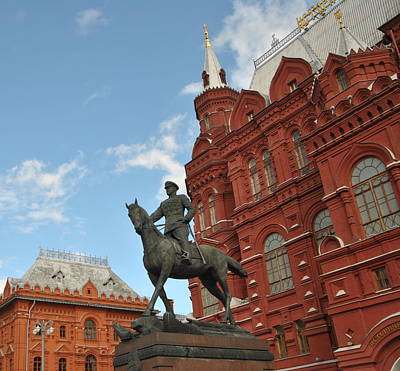 Photograph - Statue Of Marshal Zhukov by Jacqueline M Lewis