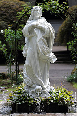 Photograph - Statue Of Mary by Scott Hill