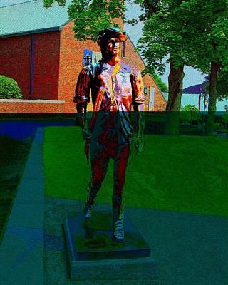 Digital Art - Statue Of Minuteman by Cliff Wilson