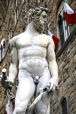 Statue Of Neptune 1 Art Print by Andrew Fare