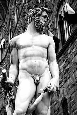 Statue Of Neptune 1b Art Print by Andrew Fare