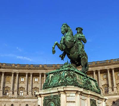 Photograph - Statue Of Prince Eugene, Hofburg Palace, Vienna, Austria by Elenarts - Elena Duvernay photo