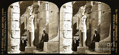 Statue Of Ramses II, Luxor Temple, 1908 Art Print by Science Source
