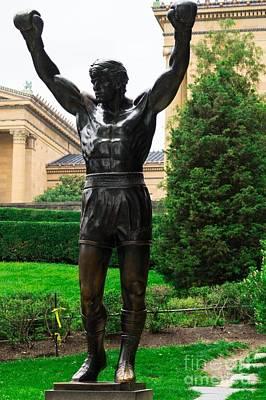 Rocky Balboa Photograph - Statue Of Rocky Balboa by Chris Baboolal