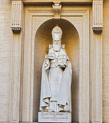 Photograph - Statue Of S. Gregorius Armeniae Illuminator In The Vatican Museu by Marek Poplawski