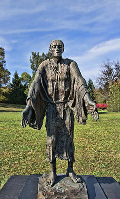 Photograph - Statue Of St John Of Dukla - The Blue Army Shrine Of Our Lady Of Fatima by Allen Beatty