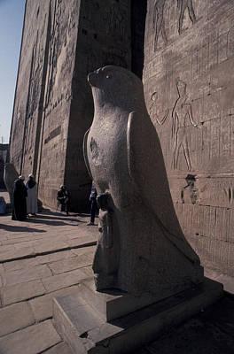 Statue Of The Bird God, Horus Art Print by Richard Nowitz