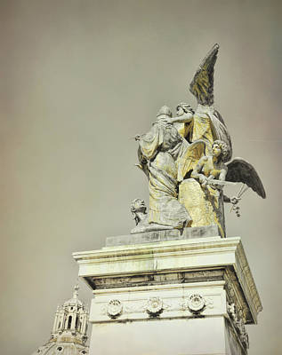 Photograph - Roman Statue Of Thought  by JAMART Photography