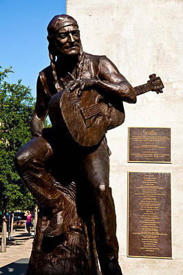 Austin City Limits Photograph - Statue Of Willie Nelson by Mark Weaver