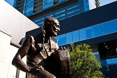 Austin City Limits Photograph - Statue Of Willie Nelson - Side View by Mark Weaver