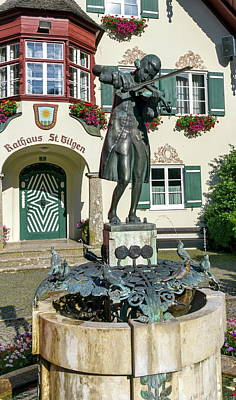 Photograph - Statue Of Young Wolfgang Amadeus Mozart In St. Gilgen, Austria by Elenarts - Elena Duvernay photo