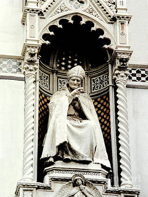 Photograph - Statue On The Duomo Cathedral In Florence, Italy by Merton Allen