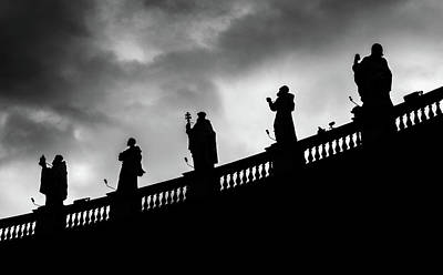 Photograph - Statues At St. Peter's Square, Vatican by Alexandre Rotenberg