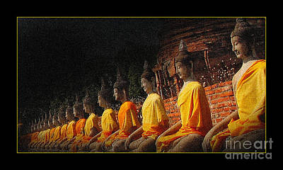 Photograph - Statues Of Buddha by Eena Bo