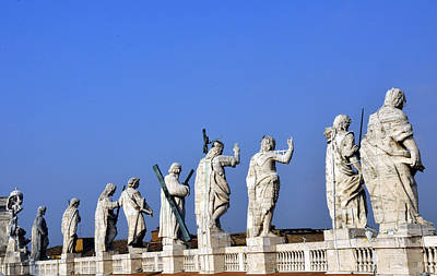 Photograph - Statues Of The Vatican by Andrew Dinh