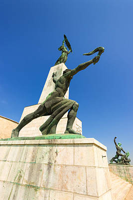 Photograph - Statues On The Gellert Hill Budapest Hungary by Matthias Hauser