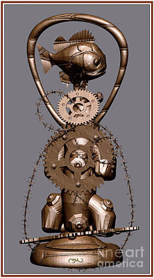 Statuette From Scrap Sfs Print by Pemaro