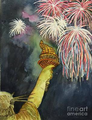 Painting - Statute Of Liberty by Lucia Grilletto