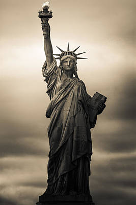 Statue Photograph - Statute Of Liberty by Tony Castillo