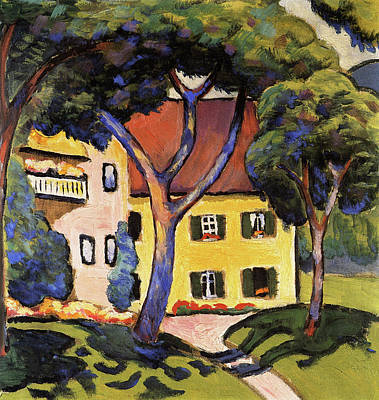 Painting - Staudacher's House At The Tegernsee by August Macke