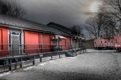 Staunton Va Train Depot Art Print by Todd Hostetter