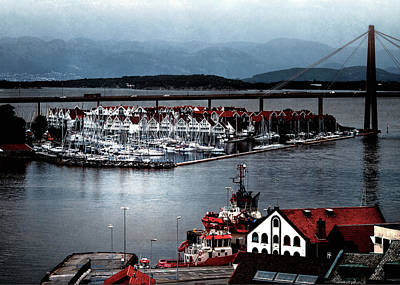 Print featuring the photograph Stavanger Harbor by Jim Hill