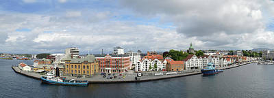Photograph - Stavanger Harbour Panorama  by Terence Davis