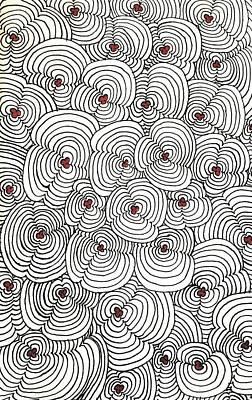 Abstract Design Drawing - Staves Song by Neal Alicakos