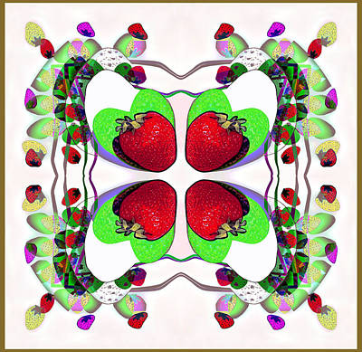 Digital Art - 1315 Stawberry Delight by Irmgard Schoendorf Welch